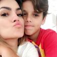 Kelly Key é mãe de Jaime Victor, de 11 anos, do casamento com o empresário Mico Freitas, e de Suzanna, 15, da união com o cantor Latino