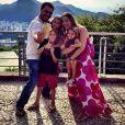 Thiago Lacerda e Vanessa Lóes são pais de Gael, de 8 anos, Cora, de 5, e Pilar, de 1