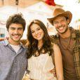 Gabriel Leicam, Bruna Marquezine e Nando Rodrigues vivem o trio de protagonistas da segunda fase de 'Em Família', a próxima das nove, da Globo, e a última de Manoel Carlos