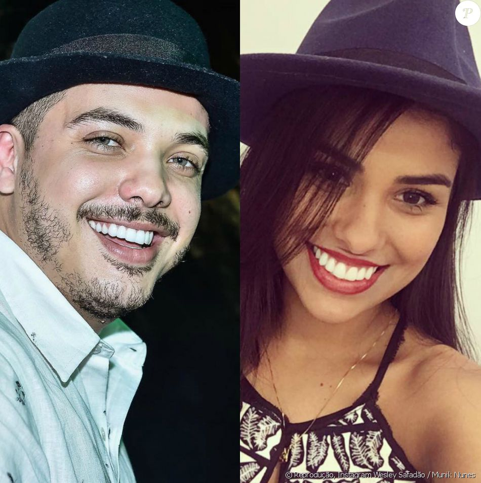 Wesley Safadão convidou a ex-BBB Munik para ir até o seu camarote na micareta, na quinta-feira, 21 de julho de 2016, em Fortaleza, no Ceará