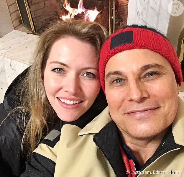 Edson Celulari, com câncer diagnosticado há um mês, elogia namorada, Karin Roepke, em publicação neste sexta-feira, dia 22 de julho de 2016