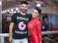 Viviane Araujo leva o noivo, Radamés, a ensaio do Salgueiro e fãs vibram:'Gatos'