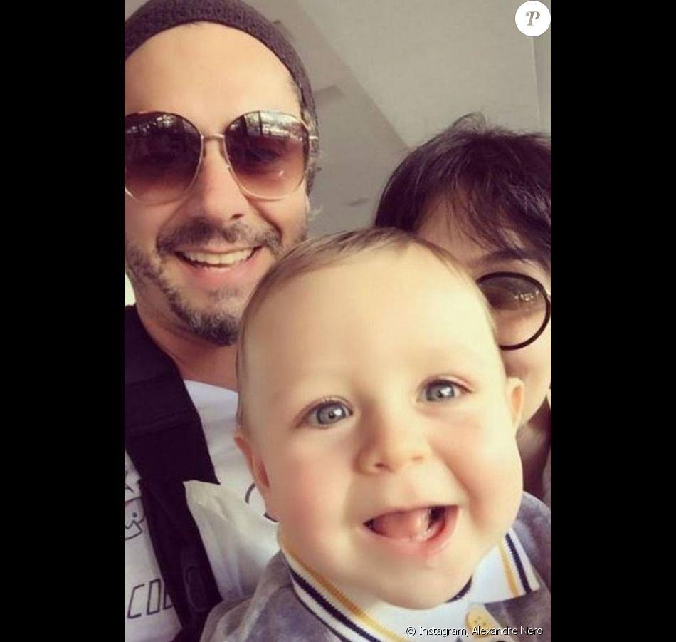 Alexandre Nero publicou neste domingo, 24 de julho de 2016, um clique com o filho, Noá