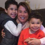 Zilu celebra Dia dos Avós em foto com filhos de Wanessa Camargo: 'Me transforma'