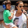 Ivete Sangalo se divertiu ao relembrar travessura do filho, Marcelo, na gravação de seu novo DVD