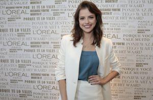 Agatha Moreira explica cuidados com cabelo em evento: 'Hidratação caseira'