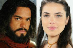 Novela 'A Terra Prometida': Elói impede beijo de Aruna e Josué (Sidney Sampaio)