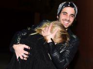 Fiuk deixa festa com a namorada, Isabella Scherer, mas ela evita fotógrafos