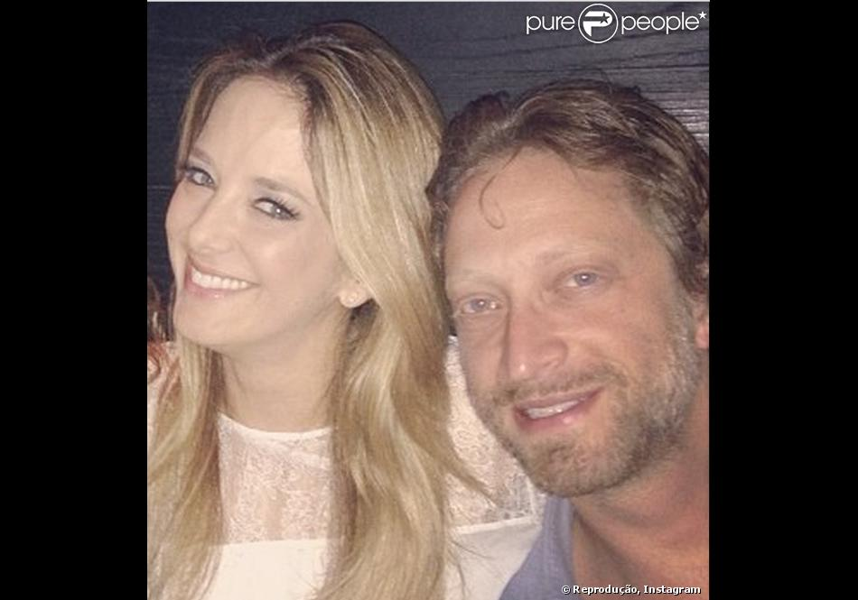 Ticiane Pinheiro e Bruno Garfinkel foram juntos a um jantar em São Paulo nesta terça-feira (19 de novembro de 2013)