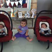 Deborah Secco mostra sobrinhos e comemora 8 meses da filha, Maria Flor: 'Amor'