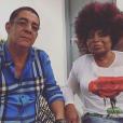 Zeca Pagodinho publica foto ao lado de Elza Soares, que também se apresentou na abertura dos Jogos Olímpicos 2016