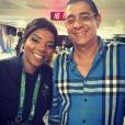 Zeca Pagodinho tieta Ludmilla e famosos antes da abertura da Olimpíada 2016
