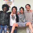 Maicon Rodrigues, João Vitor Silva, Nicolas Prattes e Danilo Mesquita vão formar uma banda na novela 'Rock Story'