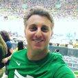 Luciano Huck assistiu a uma partida de vôlei no Maracanã durante as Olimpíadas Rio 2016