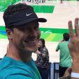 Rodrigo Faro assistiu ao jogo de basquete da seleção dos EUA nas Olimpíadas Rio 2016