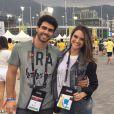 O casal conferiu a performance das meninas da ginástica artística no Parque Olímpico: 'Foi emocionante'
