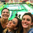 Tatá Werneck posa com Priscila Steiman e Carol Sampaio durante competição de judô na Olimpíada Rio 2016