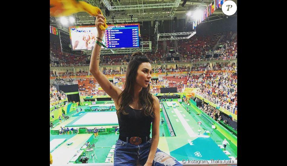 6614dbdd26 Thayla Ayala torceu pela ginástica artística na Olimpíada Rio 2016 ...