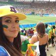 Josie Pessoa foi à partida Brasil x Suécia no futebol feminino