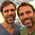 Marcelo Faria e o irmão Régis Faria estiveram com a família no Maracanã para assistir o jogo entre Brasil e Honduras, nesta quarta-feira, 17 de agosto de 2016