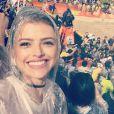 Agatha Moreira conferiu a final do vôlei de praia masculino em Copacabana, Zona Sul do Rio