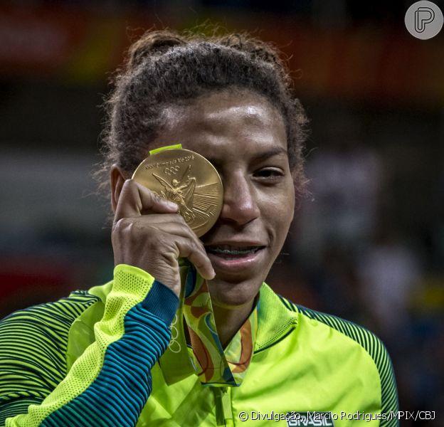 A judoca Rafaela Silva conquistou a medalha de ouro na Olimpíada nesta segunda-feira, dia 08 de agosto de 2016