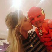 Filho de Eliana comemora 5 anos vestido do super-herói Flash: 'Muito amor'