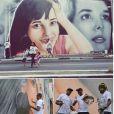 Daniella Perez tem um muro grafitado com sua foto, como a mãe mostrou nas redes sociais