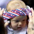 Boomer Phelps, filho de 3 meses do nadador Michael Phelps, roubou a cena na arquibancada da Olimpíada Rio 2016, no colo da mãe