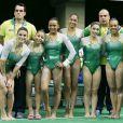 Do time de ginástica artística do Brasil, Flavia Saraiva é menor de todas. A pequena tem 1,33m de altura