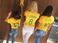 Flávia Alessandra mostra as filhas, Giulia e Olívia, com blusa de Marta: 'Ouro!'