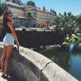 Mariana Goldfarb, em Portugal, aguarda a chegada do namorado, Cauã Reymond