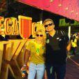 Flávia Alessandra e Otaviano Costa também já foram ao Parque Olímpico com a família