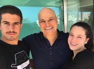Edson Celulari, com câncer, ganha homenagem de filhos no Dia dos Pais: 'Exemplo'