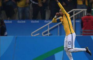 Neymar homenageia o filho no Dia dos Pais, após fazer primeiro gol na Olimpíada