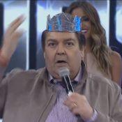 Faustão tira coroa do vencedor do quadro 'Iluminados' e dispara: 'Fica ridículo'
