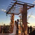 Mateus Liduário, da dupla com Jorge, quis se casar ao pôr do sol com a noiva Marcella Barra em seu sítio, em Goiânia, no dia 06 de julho de 2016