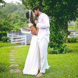 Felipe Simas e Mariana Uhlmann, pais de Joaquim, de 2 anos, se casaram em Itaipava, região serrana do Rio de Janeiro, no dia 03 de abril de 2016