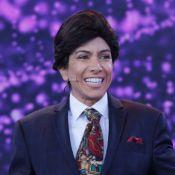Patricia Abravanel se fantasia de Silvio Santos em programa de TV: 'Rei'