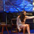 Anitta, de look curtinho, grava música romântica no DVD de Luan Santana nesta segunda-feira, dia 15 de agosto de 2016