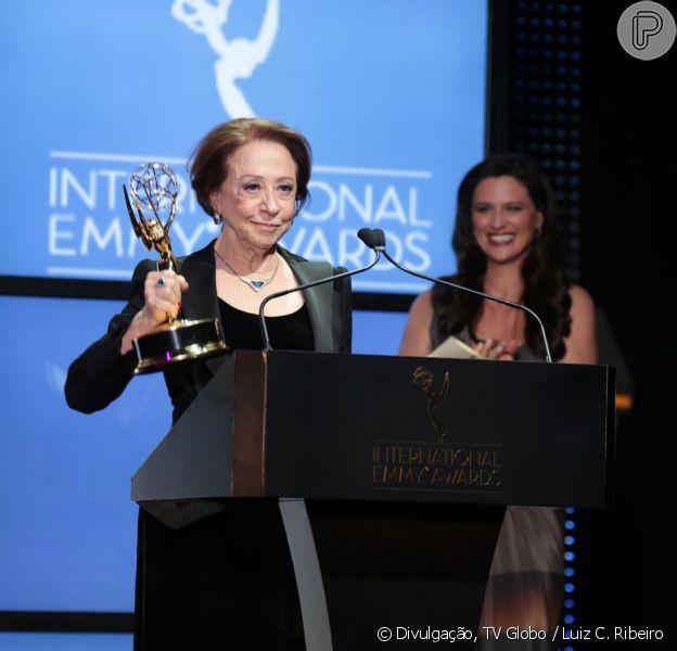 Fernanda Montenegro venceu o Emmy de melhor atriz na noite desta segunda-feira (25 de novembro de 2013)