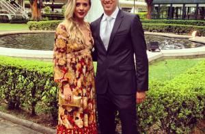 Juliana Baroni, grávida de 4 meses, se casa com empresário em São Paulo