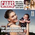Carol Francischini posa para a revista 'Caras' com a filha, Valentina