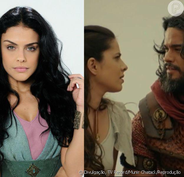 Samara (Paloma Bernardi) fica fora de si ao descobrir que Aruna (Thais Melchior) e Josué (Sidney Sampaio) vão se casar nos próximos capítulos da novela 'A Terra Prometida'