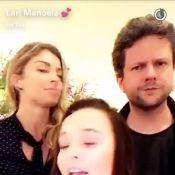 Sofia, filha de Grazi Massafera, diverte Larissa Manoela com caretas. Veja vídeo