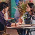 Penélope (Carolina Ferraz) vai levar um susto ao saber que está grávida de Henrique (Nando Rodrigues) em 'Haja Coração'