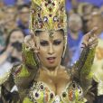 Patricia Nery desfilou como rainha de bateria da Portela desde 2013