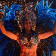 Gracyanne Barbosa estreou na Portela no Carnaval deste ano usando uma fantasia com 30 mil cristais