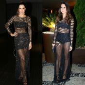 Vera Viel repete vestido com transparência usado por Thaila Ayala. Veja fotos!