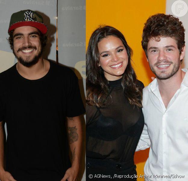 Caio Castro lembrou ter provocado ciúmes em Maurício Destri quando o ator namorava Bruna Marquezine